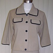 1960s Vintage Taupe Wool Suit