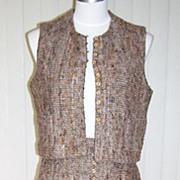 1960s Vintage Wool Tweed Skirt & Vest