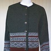 SOLD 1980s Dark Gray Cardigan Sweater