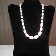 Vintage Pink Graduated Bead Necklace