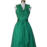 1970s / 1980s Vintage Kelly Green Gown / Prom Dress / Bridesmaids - Lillie Rubin