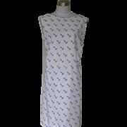 1960s Vintage Cotton Dress with Anchor Design - Vested Gentress