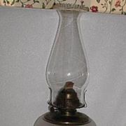 REDUCED Vintage EAPG Frosted Font Composite Floral Oil Lamp Eldorado Burner El Dorado