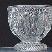 EAPG Early American Pattern Glass Flint Cable With Ring Sugar Bowl