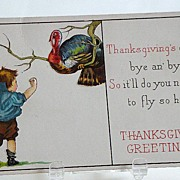 REDUCED Set Of Three Early 1900s James E. Pitts Thanksgiving Greeting Cards Series 54 A, E, &