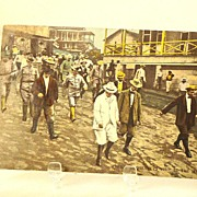 1919 President Theodore Roosevelt visit to The Isthmus Panama Canal Postcard
