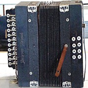 REDUCED Circa 1906 Beaver Brand Made In Germany Two Row Diatonic Button Accordion