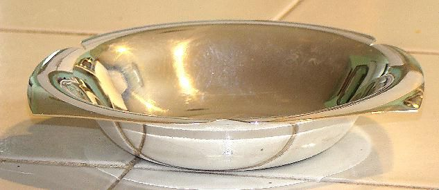 Stunning Tiffany & Co. Sterling Silver Tri Petal Bowl 243435L 219 Grams