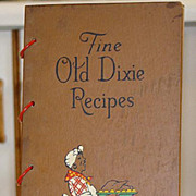 SOLD Black Americana Wood Cover 1939 Fine Old Dixie Recipes 322 Recipes heavily illustrated