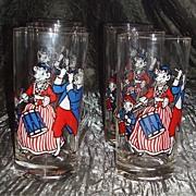 """Rare Set of 6  Bordens """" Elsie """"The Cow Glasses - Original Box"""