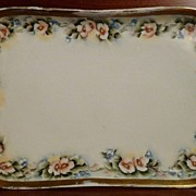 O. & E. G. Royal Austria Large Hand Painted Floral Vanity Tray