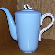 Homer Laughlin Skytone Coffee Pot Solid Blue
