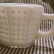 Vintage Fenton Octagonal Hobnail Punch Cup Fiery Opalescent