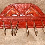 Syroco Wood Horse Tie/Scarf/Jewelry Rack