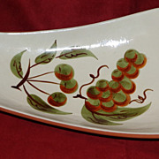 Stangl Pottery - Orchard Song - Relish Plate