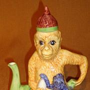 Vietri Figural Monkey Tea Pot