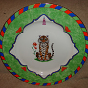 Lynn Chase - Tiger Raj Collection - Charger/Plate
