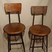 1930's Factory Stool - Toledo Drafting Chair