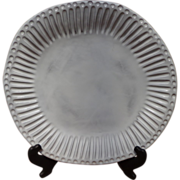 Vietri - Incanto - White Stripe - Dinner Plate - Italy