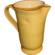 Vietri - Large Yellow Pottery Pitcher - Italy