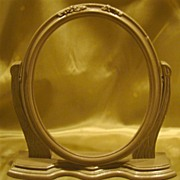 Art Deco Oval Wood Swinging Picture Frame