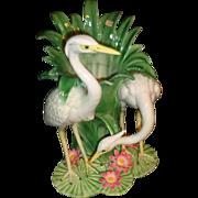 Rare - Fitz & Floyd - Crane/Heron/Egret - Planter/Vase - Circa 1980