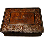 Spanish Hand Tooled Leather Cigar/Cigarette Box