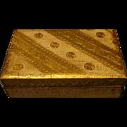 Vintage Florentine Box - Gold & Cream - Italy