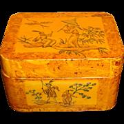 Vintage Asian Motif Lacquer Box By Boca Bazaar