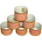 Vintage Fitz and Floyd Renaissance Peach Napkin Rings