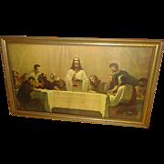 Vintage Jesus Last Supper Print - 1940's