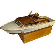 Vintage 1950's Sterling Model Chris Craft Boat