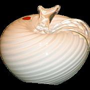 Vintage 1960's Murano Art Glass Apple - Seguso - Large