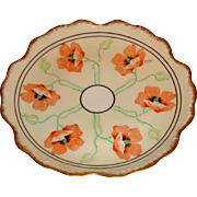 Elite Works Limoge France - Art Nouveau - Poppy Plate