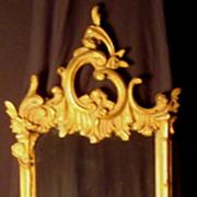 French Gold Gilt Mirror with Shelf
