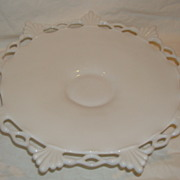 Westmoreland Milk Glass Lacey Reticulated Footed Compote