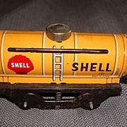 Vintage Train Car Shell Gasoline