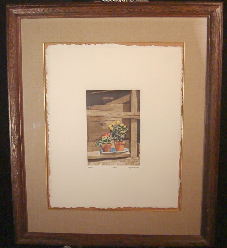 """Bob Timberlake Signed and Numbered Original Etching """"Potted"""""""