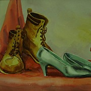 Vintage 1950's Watercolor - Shoes
