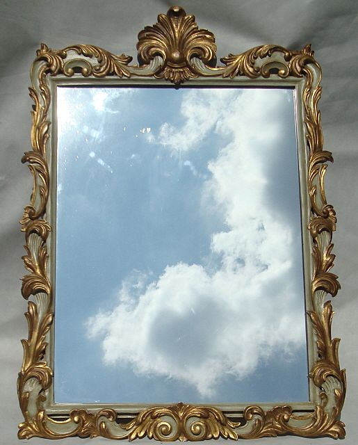 Vintage Gold Gilt Italian Mirror