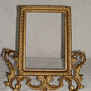Victorian Gilt Metal Picture Frame