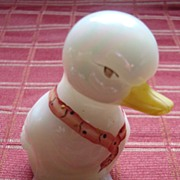 "Fenton Opalescent Glass Signed ""DUGAN"" Duck"