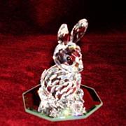 SOLD Swarovski crystal rabbit