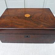 REDUCED Victorian mahogany box
