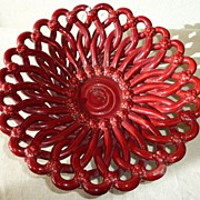 REDUCED Pierced Vallauris red bowl