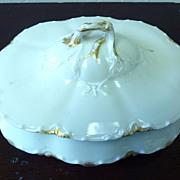 REDUCED Haviland Limoges white & gold serving dish