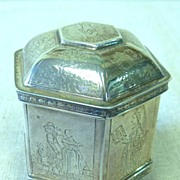 REDUCED Small sterling octagonal wedding box