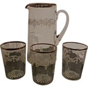 REDUCED Pitcher and water goblets set