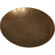 REDUCED 20th century Chinese brass bowl