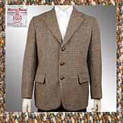 Vintage 60s Harris Tweed Jacket // 1960s Sport Coat Blazer Mens Size M / L